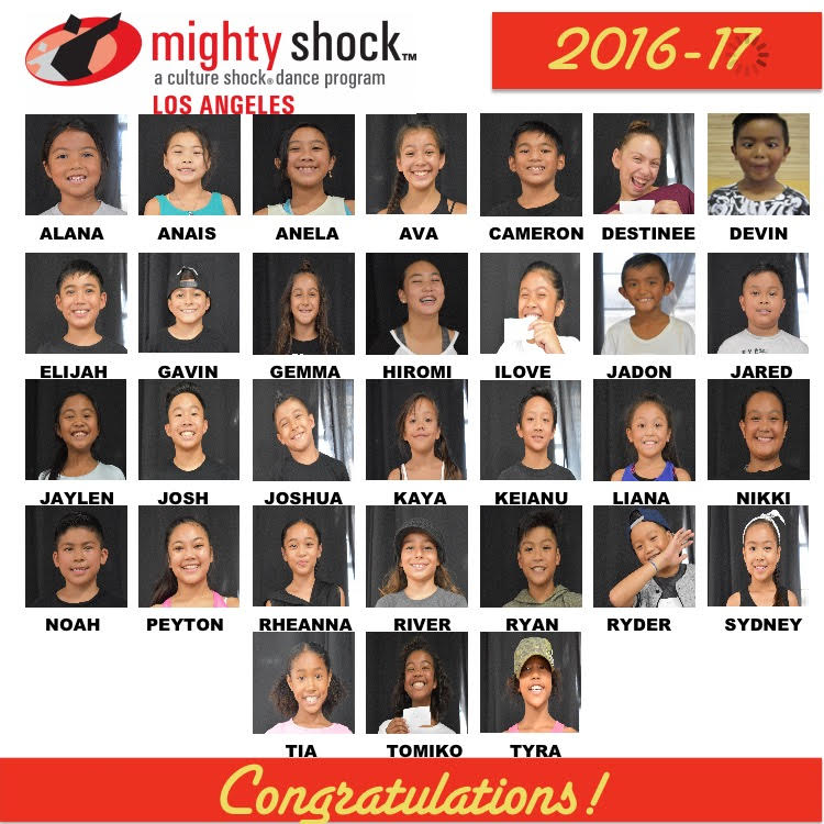 Mighty Shock LA 2016-2017 Roster