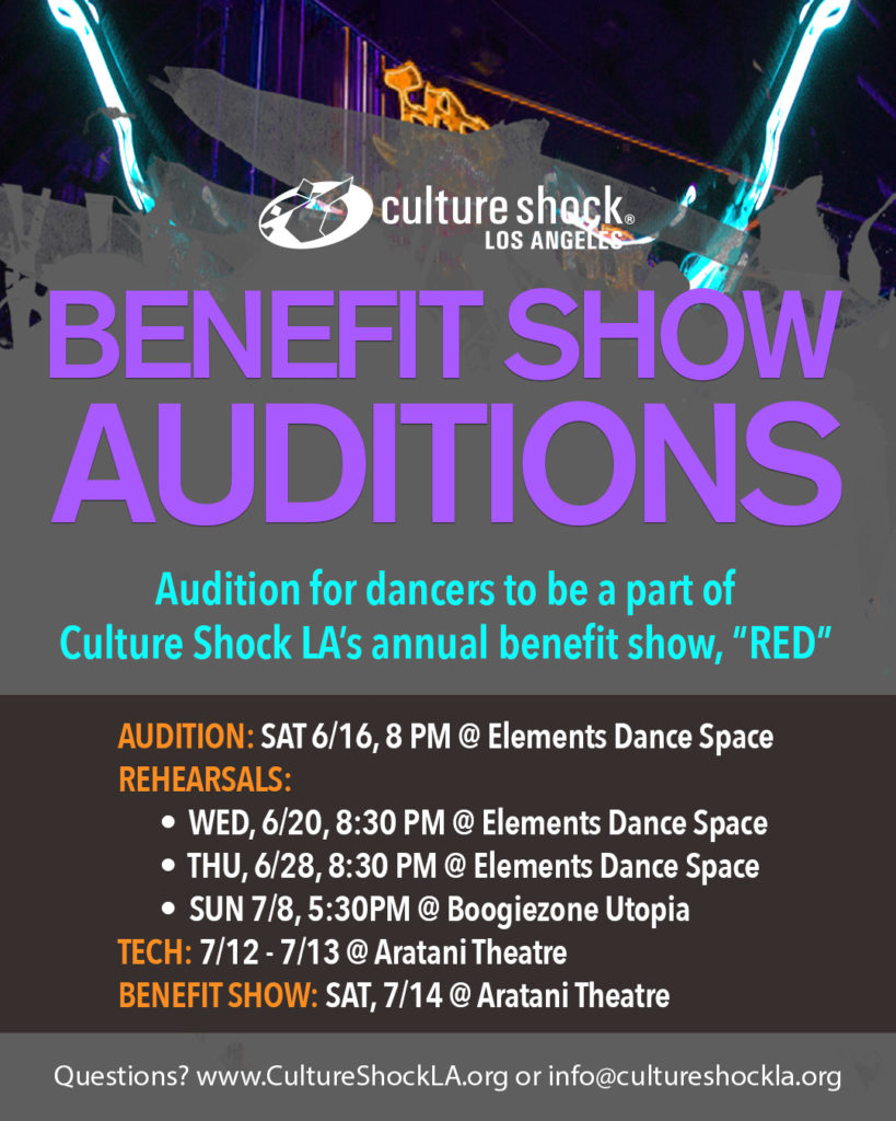 Benefit Show 2018 Auditions